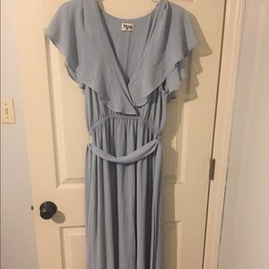 Show me Your Mumu Steel Blue Audrey Dress